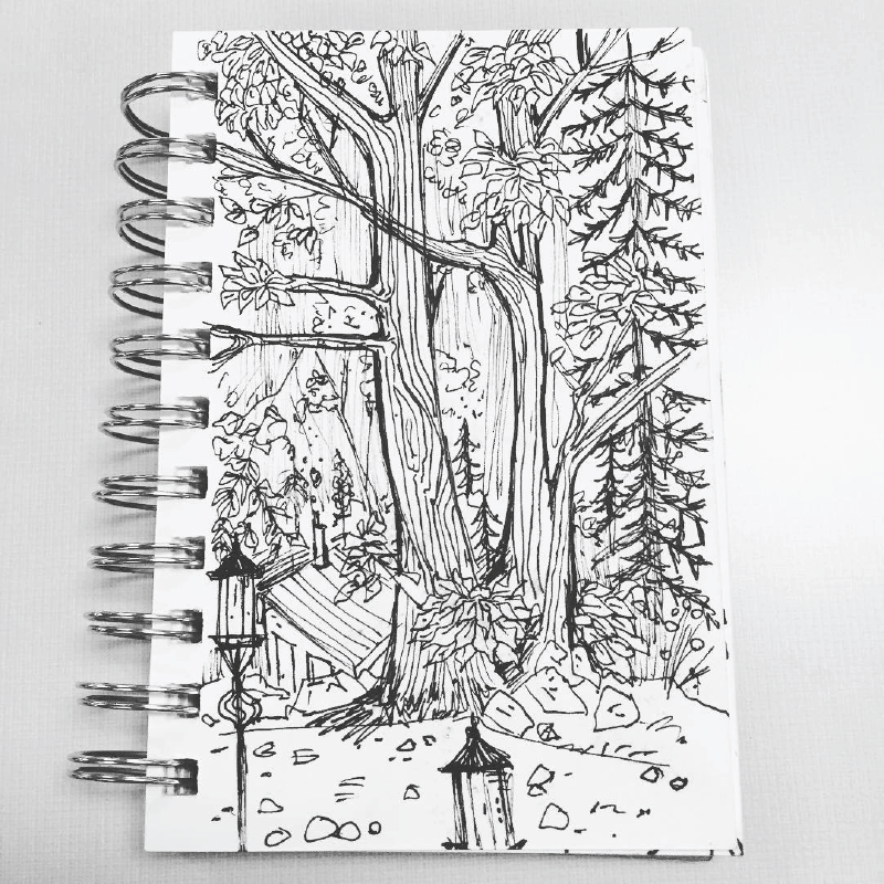 Forest Wedding Sketch