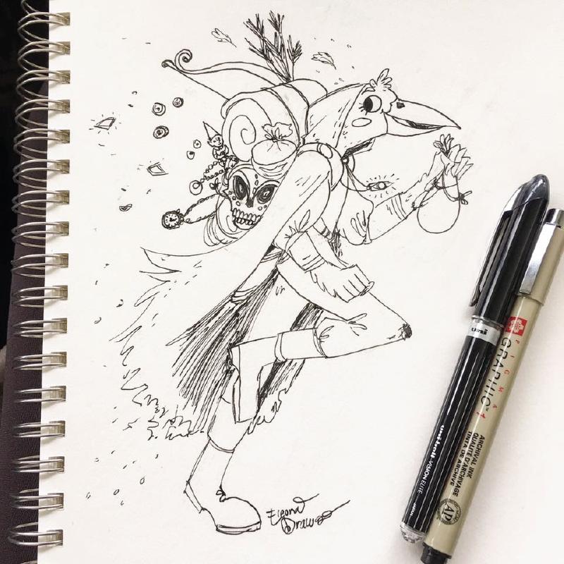Branwen Running Doodle