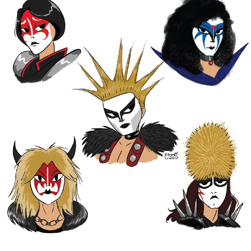 Seikima-II Band Doodles