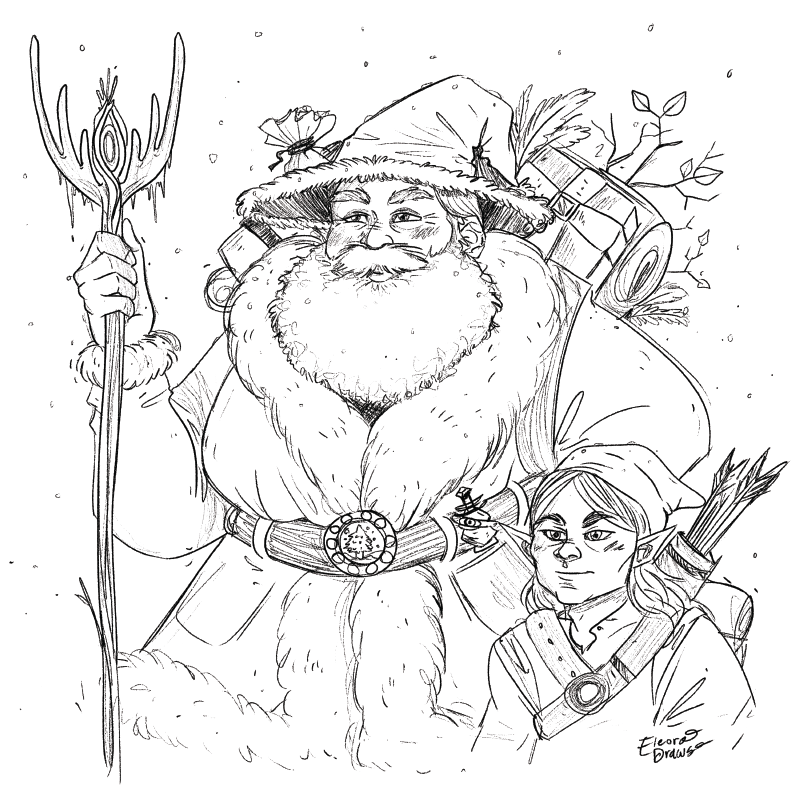 Fantasy Santa and Elf