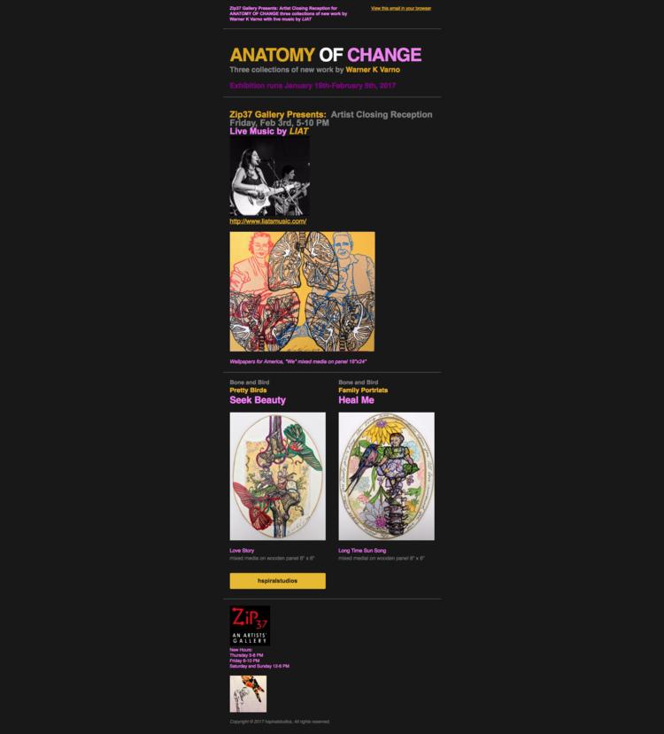 Anatomy of Change • Artist\'s closing reception — hspiralstudios