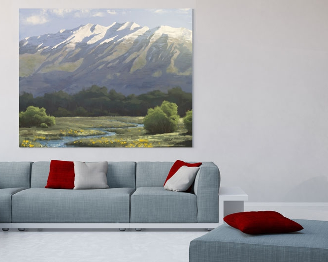 Fine Art - See how traditional and digital mediums are used to create breathtaking fine art, destined to beautify your home.