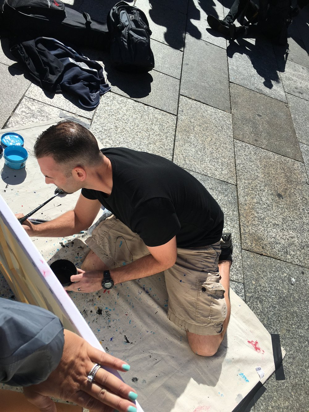 Painting in the Streets of Germany