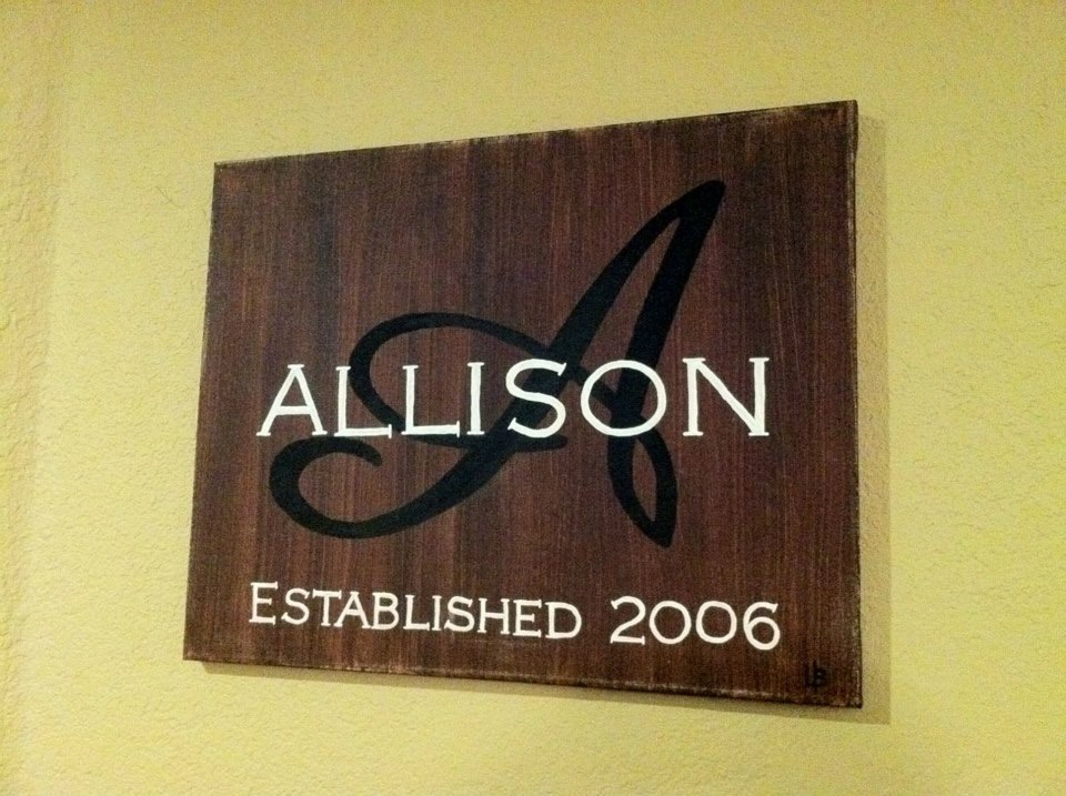 Established Sign Allison