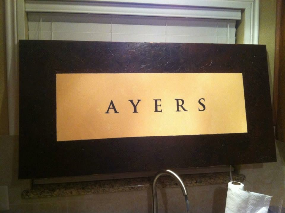Family Name Painting Ayers