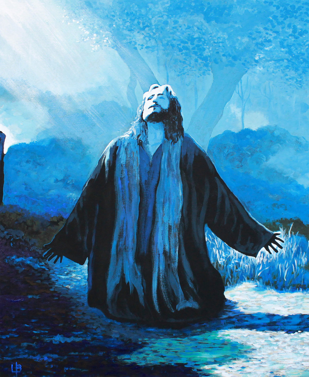 Gethsemane - Praying Jesus Painting