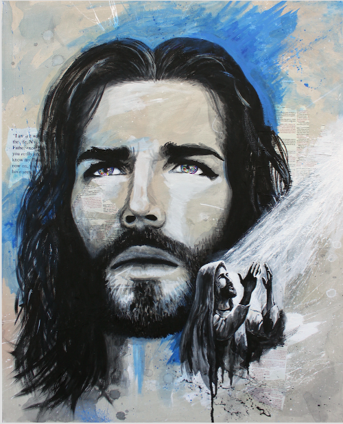 My newest painting of Christ titled - Prayer