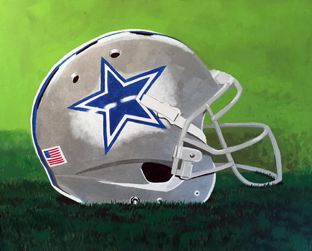 Dallas Cowboys Helmet Painted Christ