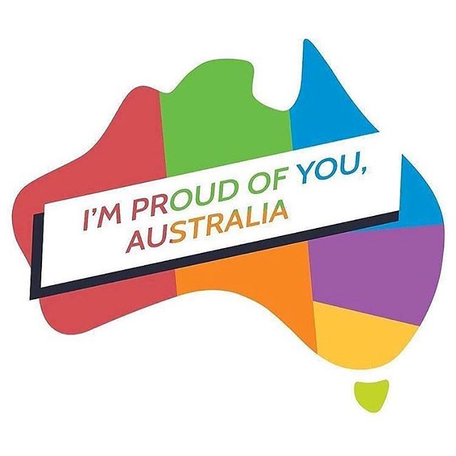 Never too late to celebrate another win for LOVE! Proud of Australia. Proud of their People. Proud of Equality! ❤️💛💚💙💜