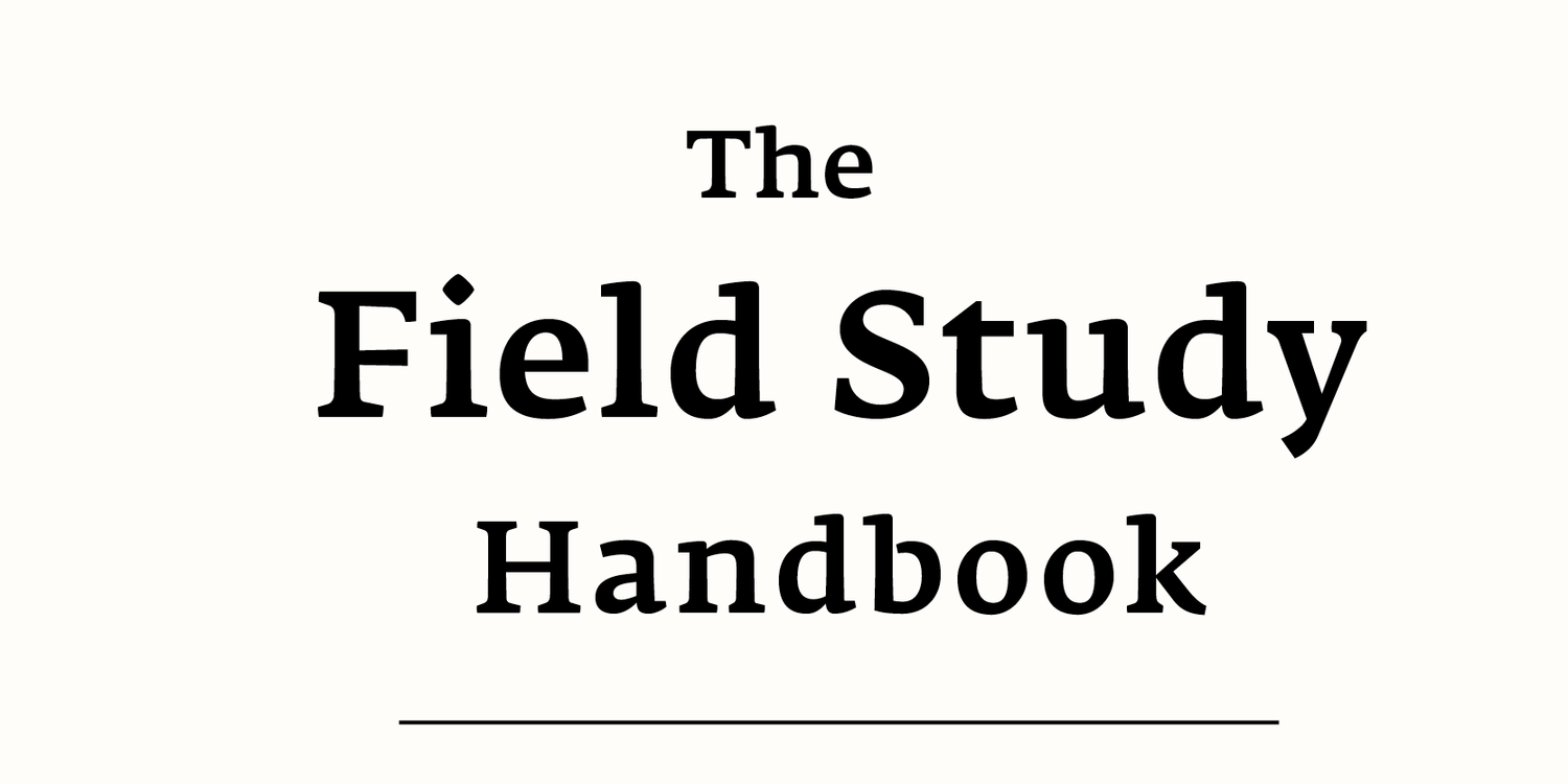 Table Of Contents The Field Study Handbook