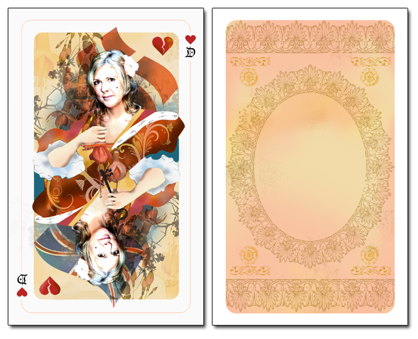 Birthday card: Playing cards
