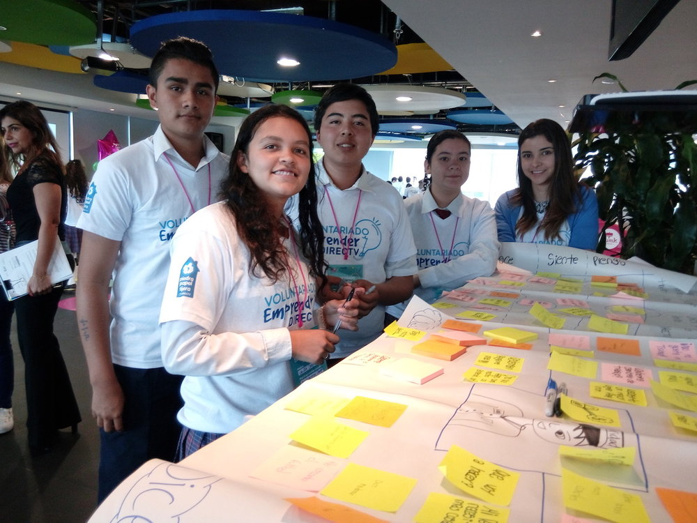 Students during the JA Innovation Camps.