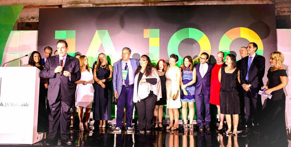 JA Worldwide, JA Americas and JA Mexico staff during the JA Centennial Gala Dinner.