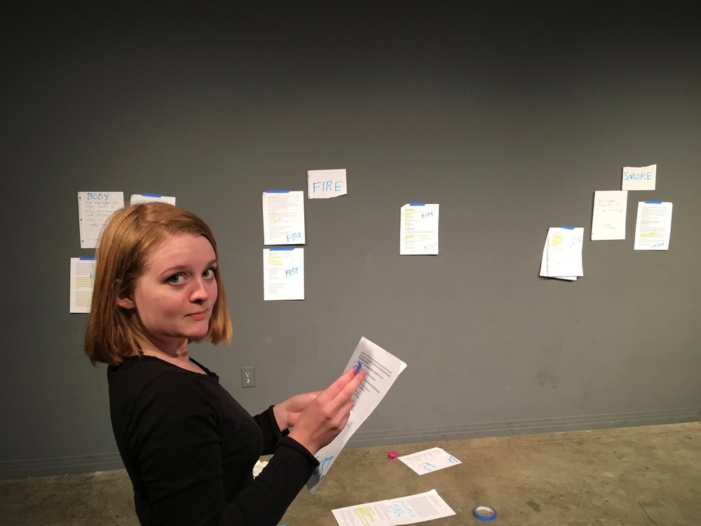 Writer Emma Bailey at Kim Maxwell Studio