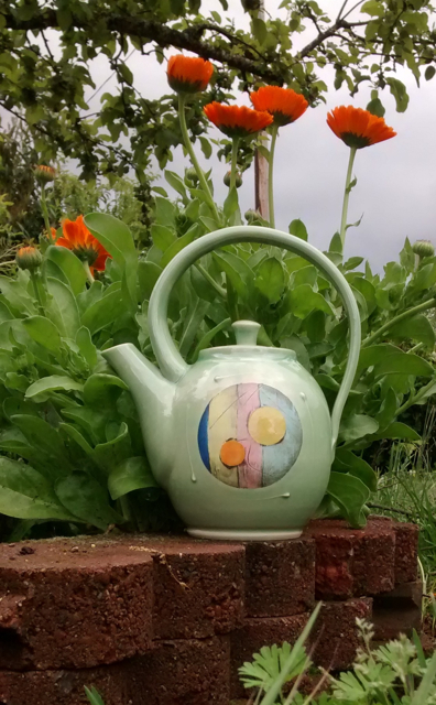 Happy Teapot with Calendula