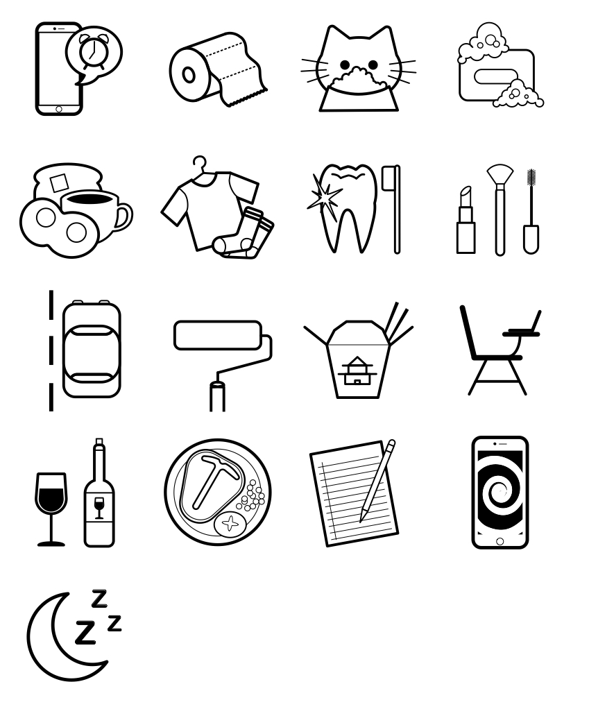 Original icons made with Adobe Illustrator