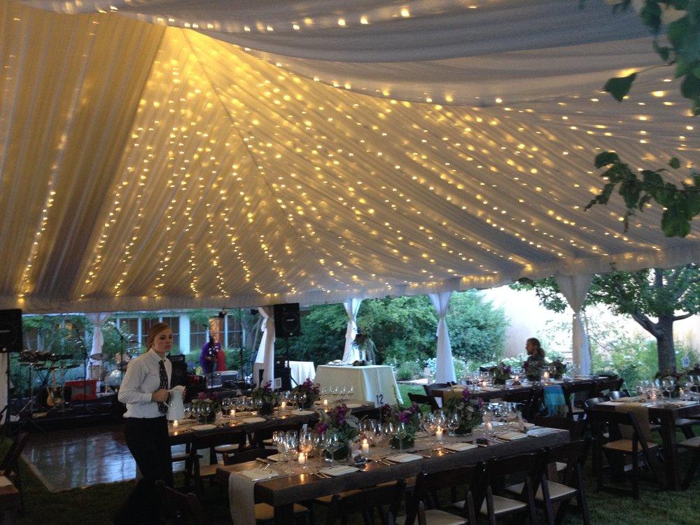 Benjamin/Nazari Wedding - Tent and lighting by Classic Party Rentals