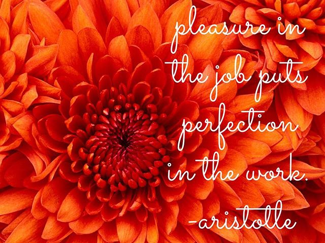 """Pleasure in the job puts perfection in the work."" - Aristotle #pleasure #perfection #wedding #weddingplanner #newmexico #aristotle"