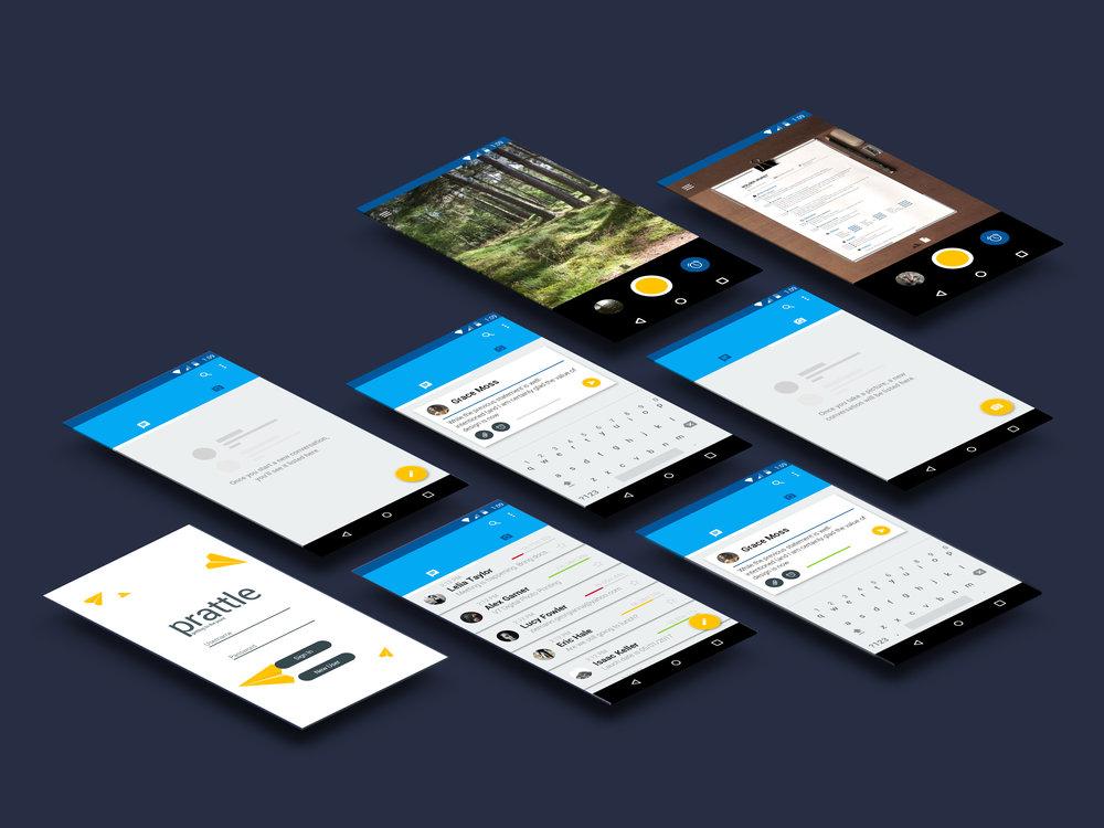 Prattle's UI/UX.
