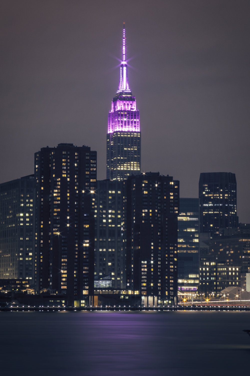 A pink Empire State Building