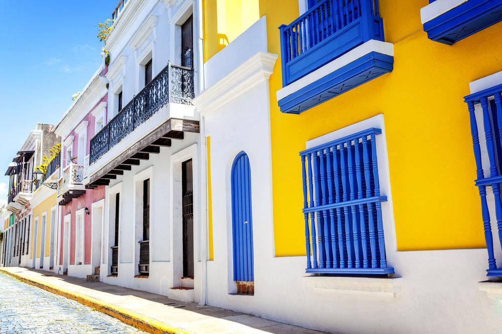 The colorful streets of San Juan, PR