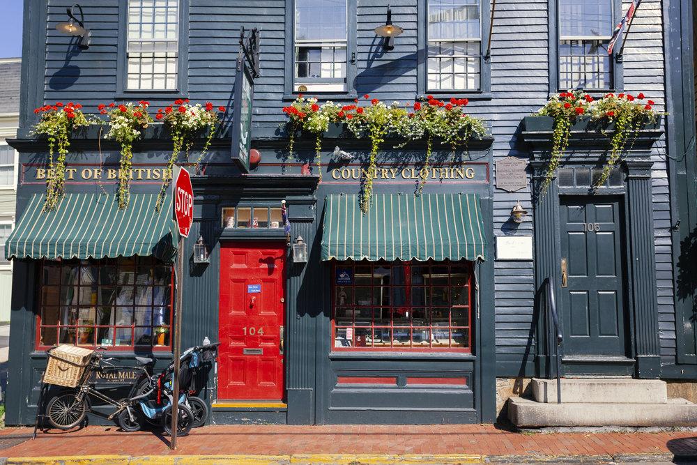Typical shop in Newport, RI