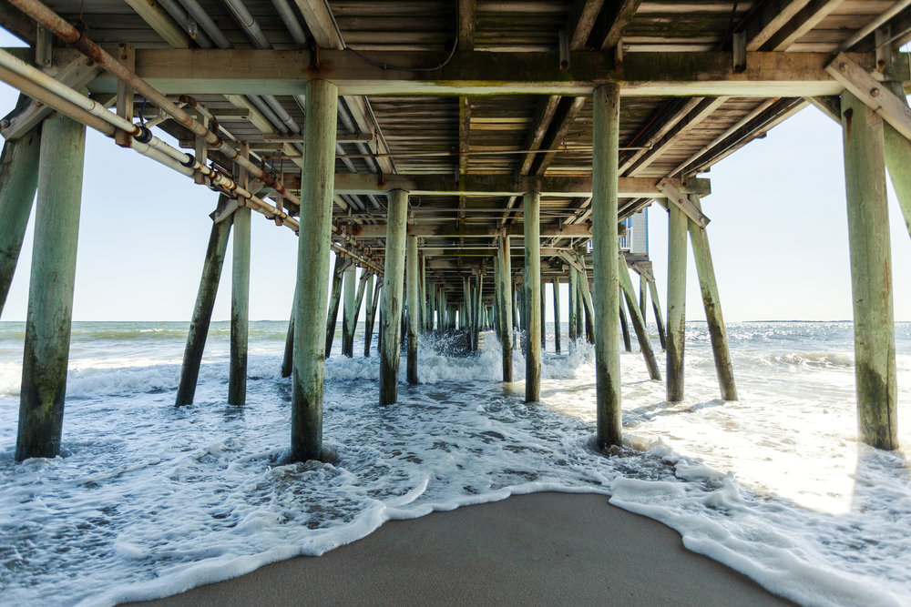 Under the pier of Old Orchard Beach, Maine