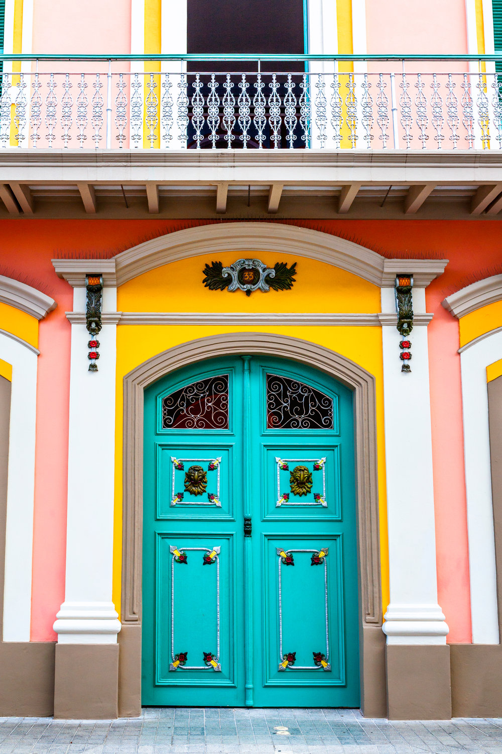 A colorful door in Ponce, PR