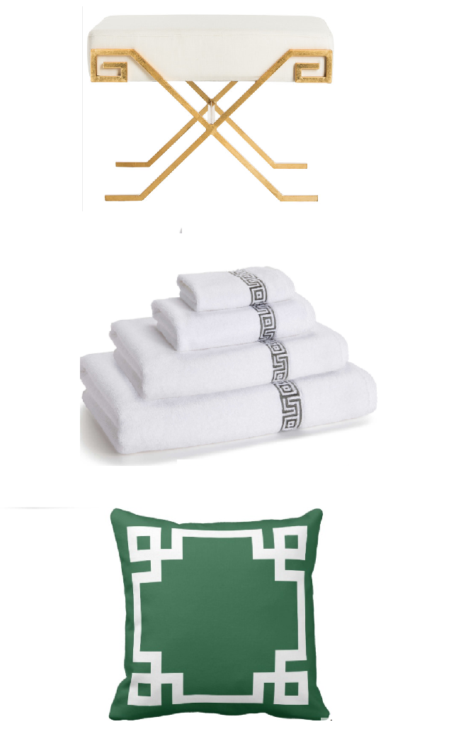 X-bench, towels, throw pillow