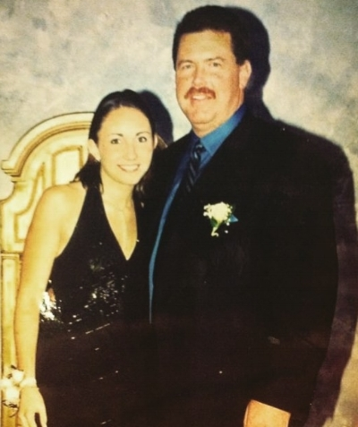 My dad and I my senior year of high school at the Father-Daughter Dance. I remember feeling pretty that night.
