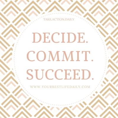 Today's challenge is to COMMIT. This also happens to be my personal word for the year! Something that is one of the main components that hold many back from their personal development and growth. Commitment is both power and purpose. Every moment in our life that makes us feel proud or accomplished involves commitment. Once we do it, it influences our behaviors and actions. Unlike hope, it forces us to face challenges when obstacles arrive and forces us to find success because we aren't allowed to quit! Success in most things in life requires extreme commitment. Here at YOUR BEST LIFE DAILY, to live our best life we are required to commit to our daily practices that make us better! Whether it is practicing mindfulness, meditation, gratitude, exercising or nutrition- they all require commitment! Today we want you to first decide what you want to commit to. Is it to stop drinking soda? Writing in a journal? Meditating 5 minutes before bed? Pick something that you have been wanting to practice, then COMMIT to it and watch the success flourish in your life!