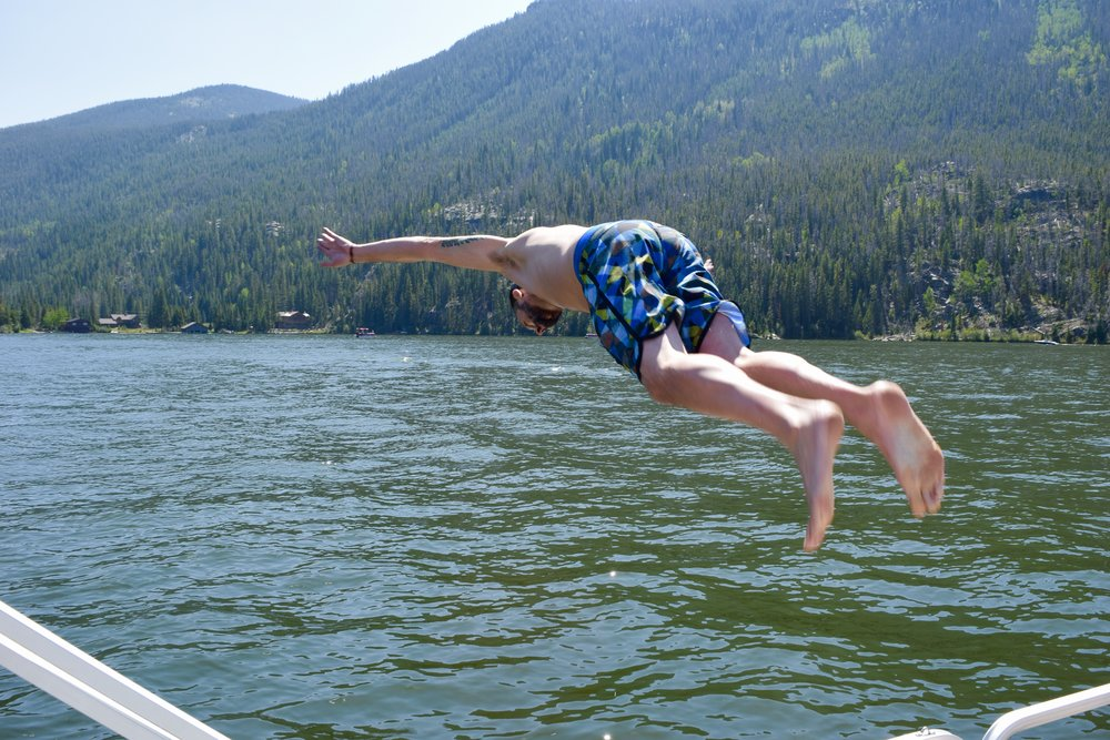 Olympic diver.