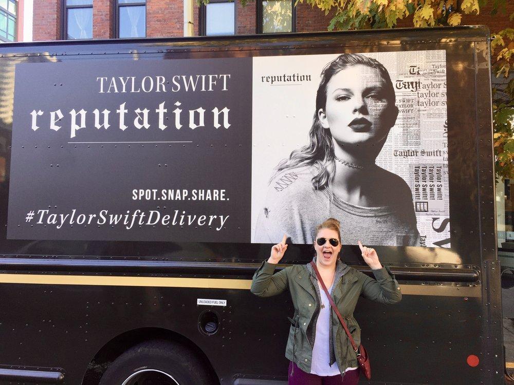 Said jacket and ma girl Taylor. Killin' it.
