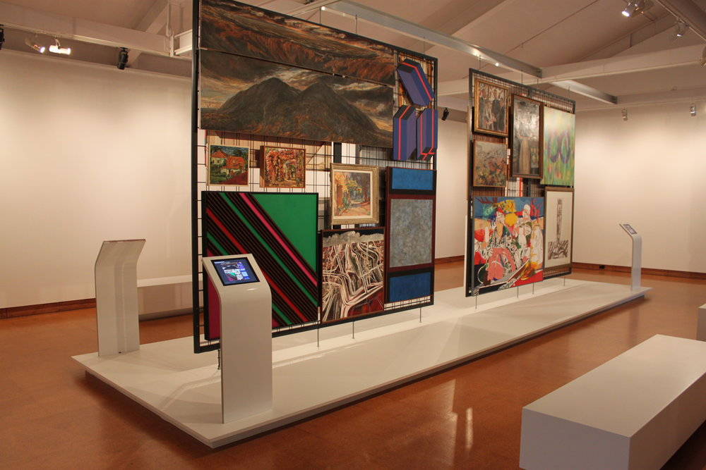 This gallery displays collection racks, straight from storage, and swaps them out on a high rotate, so the entire collection can be seen over a few months.
