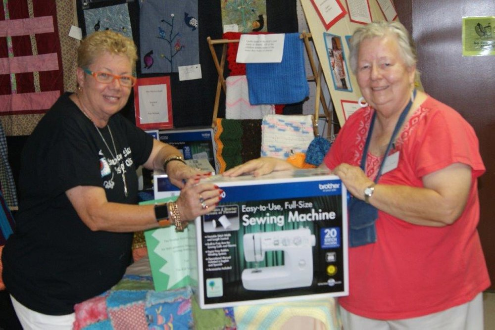 2013 Pam Holland presents Francis Campbell with Sewing Machines  - Copy.jpg