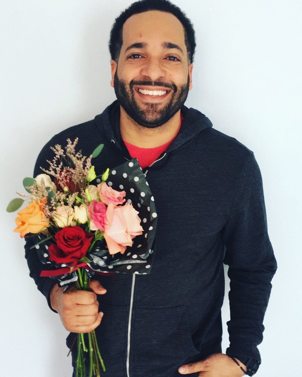 Our first Save-the-Bouquet Day customer, Dorian!