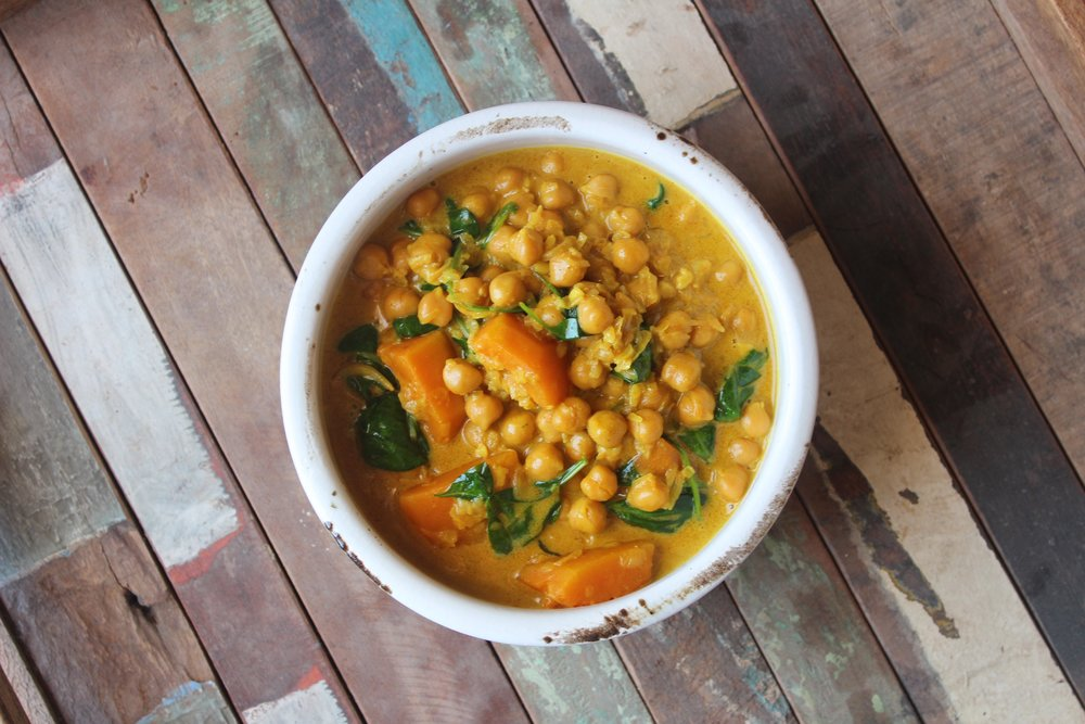 Pumpkin-chickpea-curry