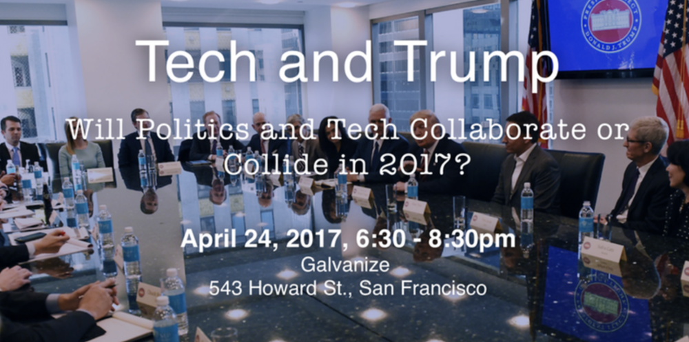 - TheBridge co-hosted a panel discussion around the question of how politics and tech will collaborate in the Trump presidency. Panelists included Sam Altman of Y Combinator, Steve Hilton of Crowdpac, Joe Longsdale of 8VC moderated by Katy Steinmetz of Time Magazine.