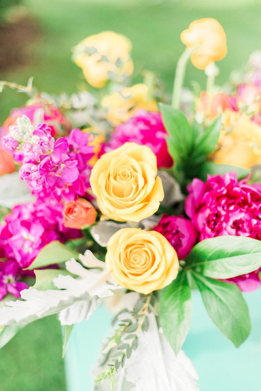 Mexico inspired floral design.  Photographer:  Cynthia Boyle
