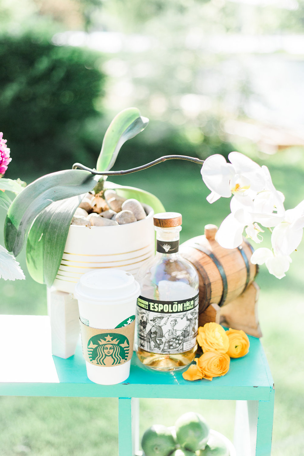 Starbucks, tequila, orchids are all things that speak to my heart.   Photographer:  Cynthia Boyle