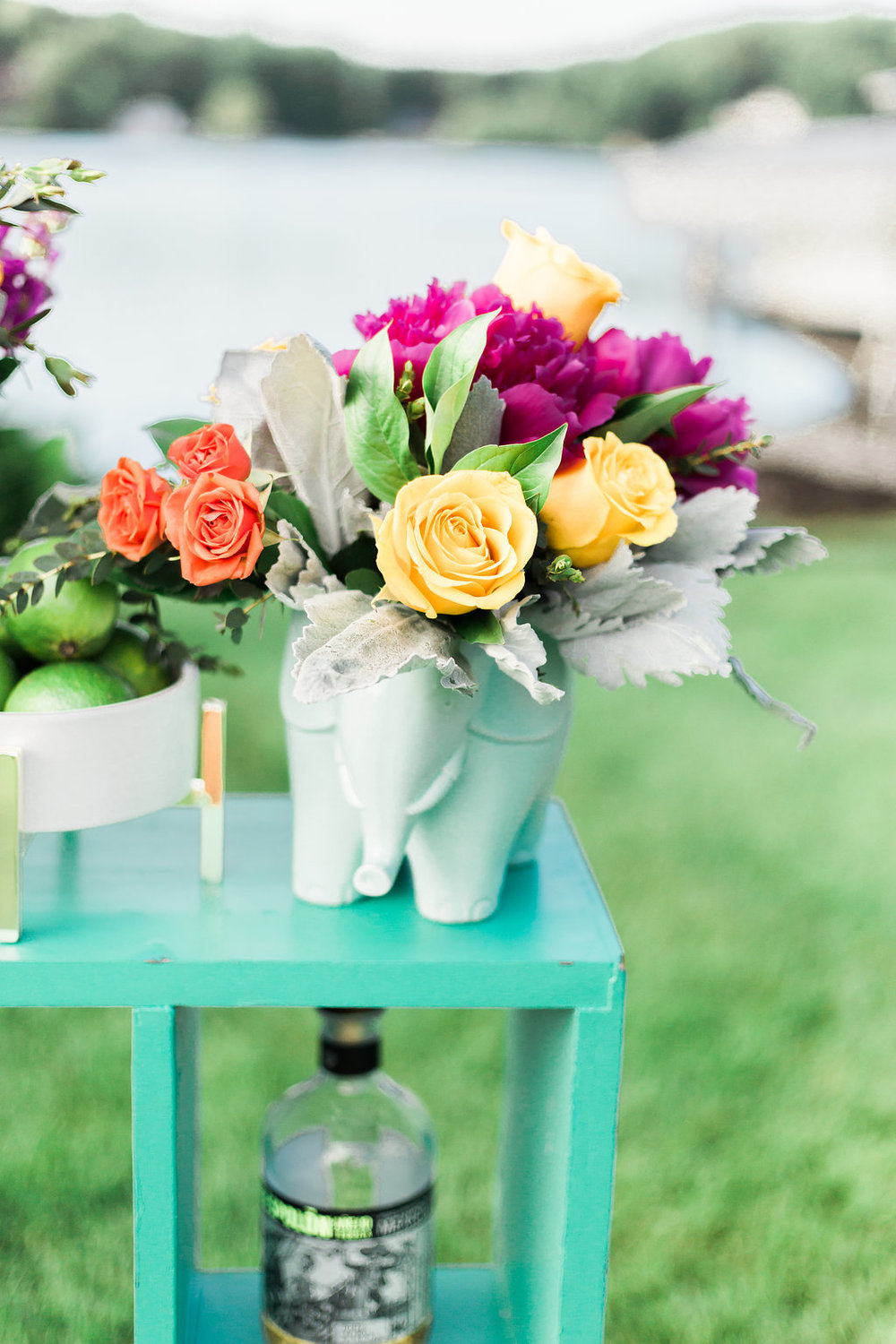 I may have a small love for elephants so why not design flowers in one?  Photographer:  Cynthia Boyle