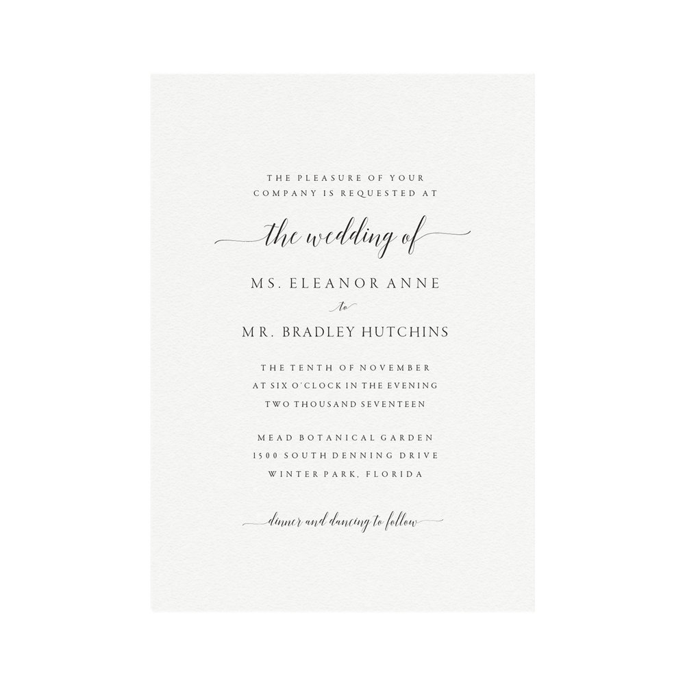 Adel Printable Wedding Invitation Template — Simply Suite