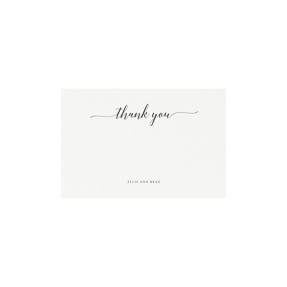 Adel Printable Wedding Thank You Card Simply Suite