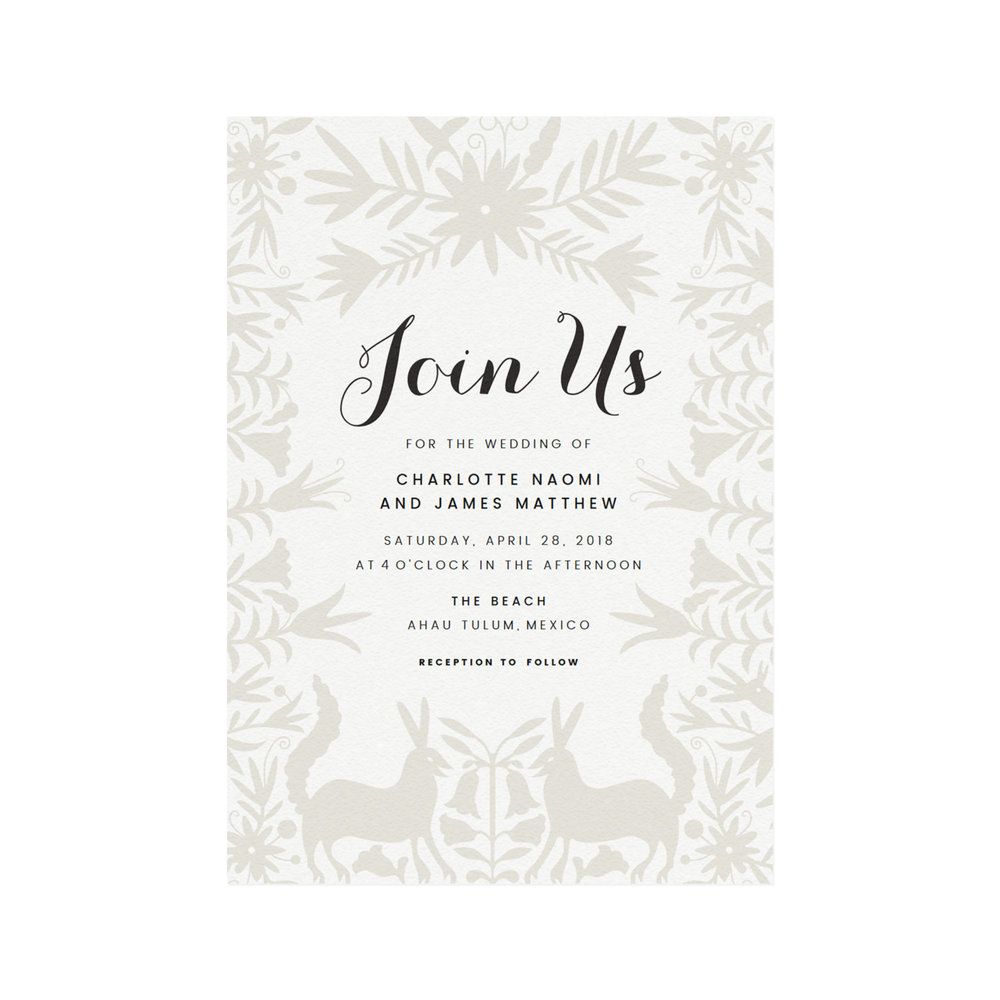 Tulum <br> Wedding Invitation <br> DIY Template — Simply Suite