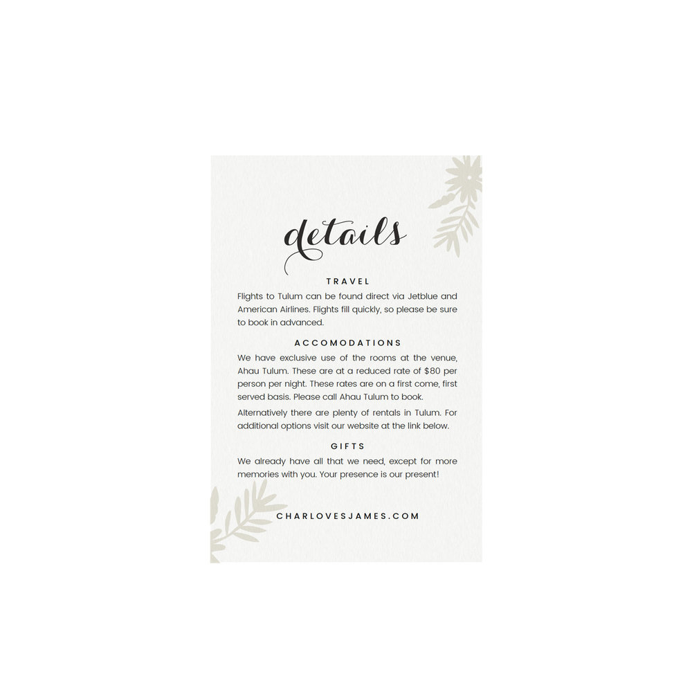 tulum printable wedding details card template simply suite