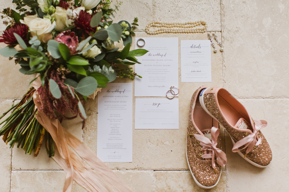 adel  wedding invitation set template  and  wedding program template  by  simply suite