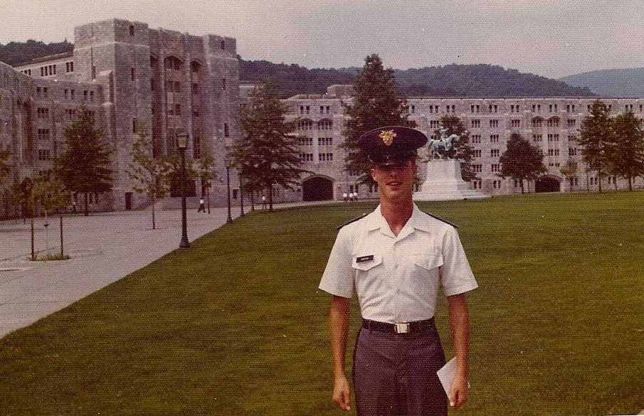 David Carter as a plebe in 1977