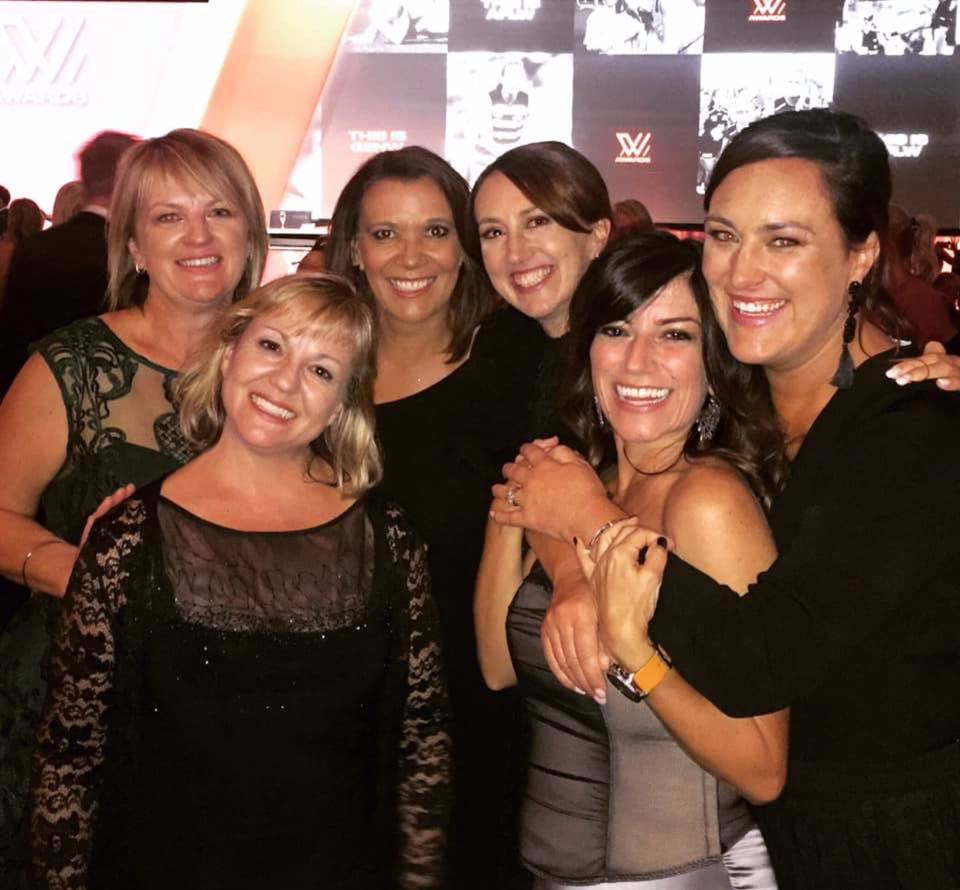 With Angela Pippos and Shelley Ware at the AFLW Awards