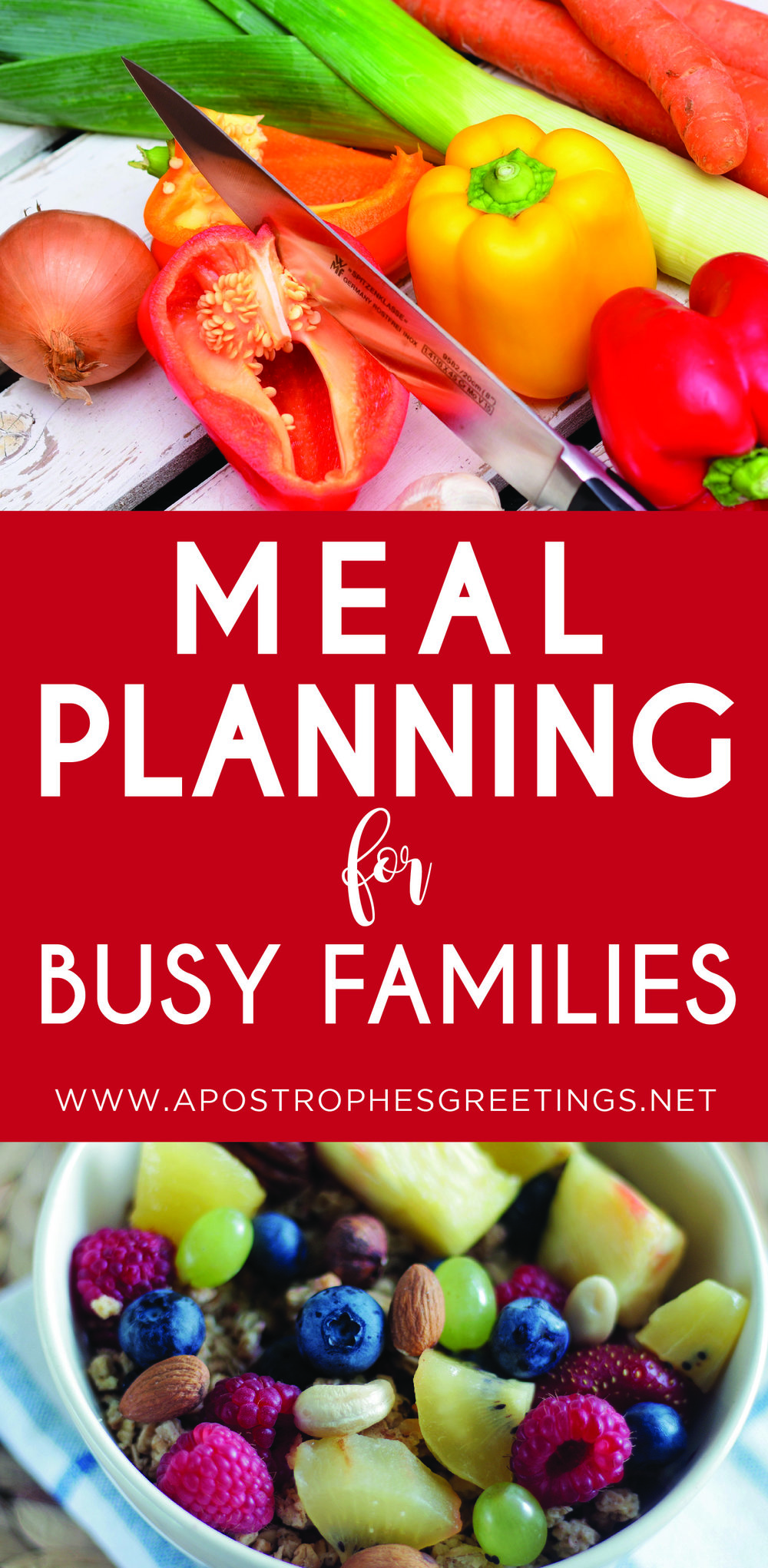 Meal prep tips for busy families