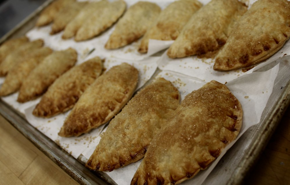 We made 500 hand-pies from scratch!